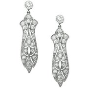 Art Deco Diamond Earrings- Circa 1925