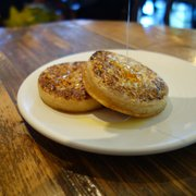"Two Crumpets ""and too much butter"" with Honey"