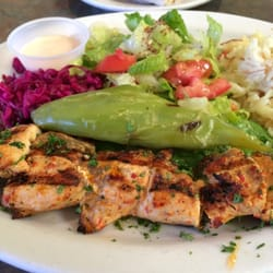 Mediterranean Chicken Kebab Salad Recipe — Dishmaps