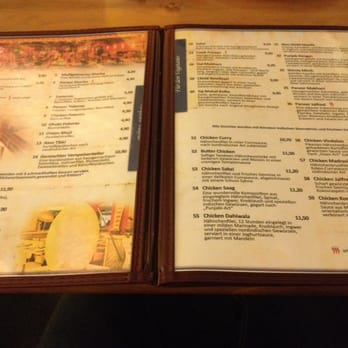 Amrit Restaurant Berlin Menu