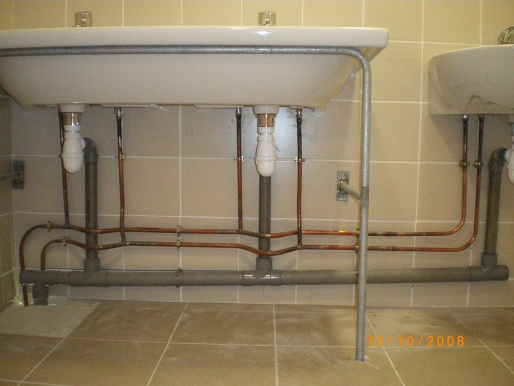 installation d 39 alimentation cuivre et vacuation pvc sur lavabos collectif yelp. Black Bedroom Furniture Sets. Home Design Ideas
