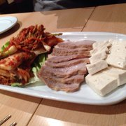 Hang-a-ri - Paris, France. Steamed pork with Kimchi