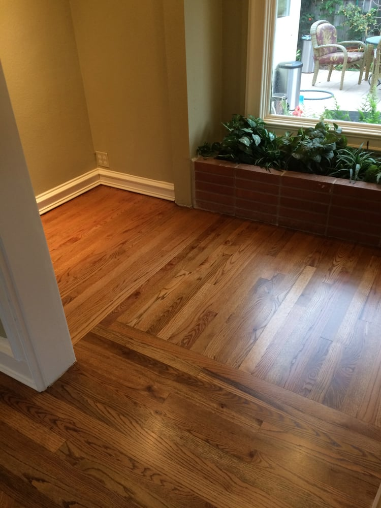 Solid Red Oak Sand Refinish With Early American Stain