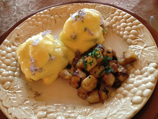 Querencia - Eggs benedict, all food served is made from scratch by the owner Mike. - Murphys, CA, Vereinigte Staaten