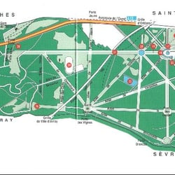 Plan du Parc de Saint-Cloud