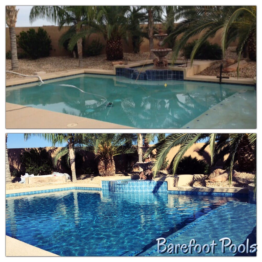 Remodel your pool with a new surface like micro pebble for Pool resurfacing phoenix az