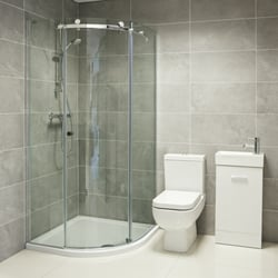 Maurina WC and Karla Quadrant Shower Enclosure
