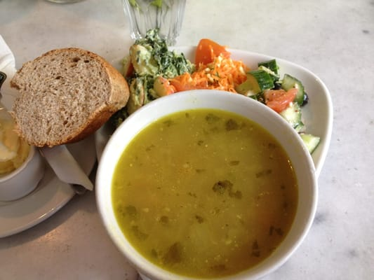 Three great salads and coconut bean soup