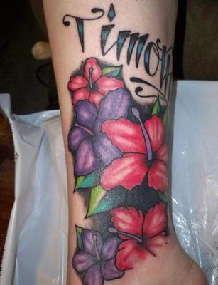 Flower tattoo by resident artist alex teacher yelp for Painful pleasures tattoo