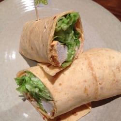 Yummy chicken wrap with a lime sauce