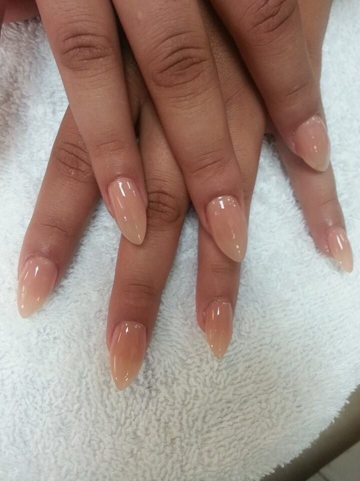 Natural Matte Pointy Nails
