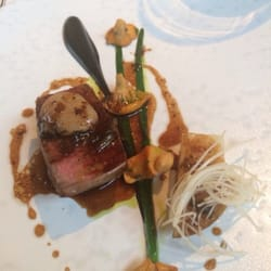 Beef with bone marrow and chanterelles