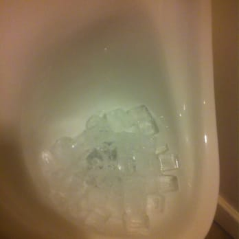 Ice? In a urinal? Interesting