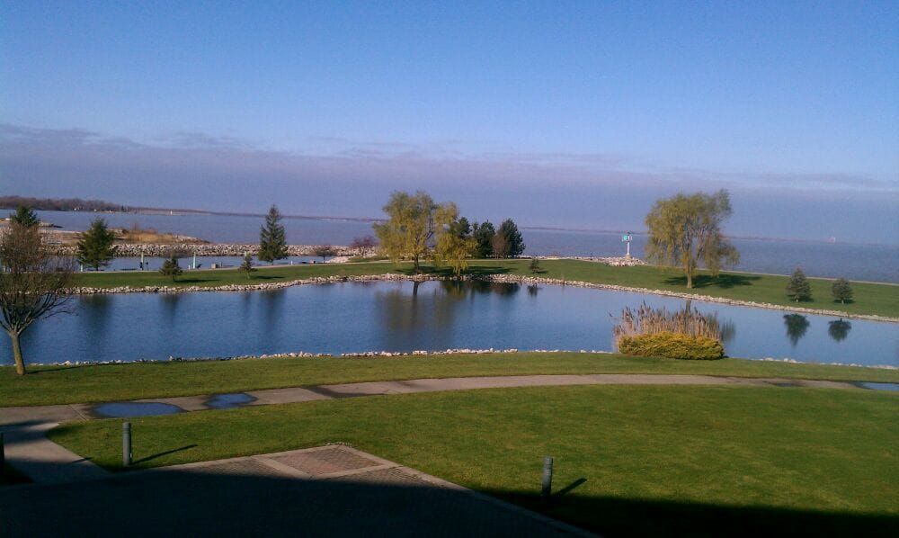 View of the bay and fishing pond yelp for Fishing resorts near me