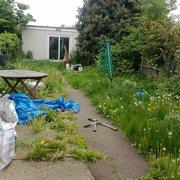 garden tidey before