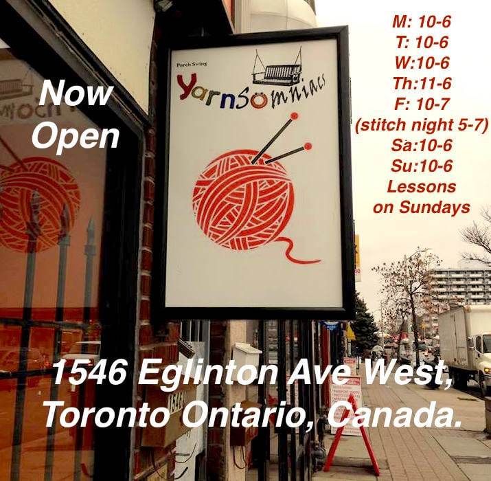 Knitting Supplies Near Me : Porch swing yarnsomniacs knitting supplies toronto on