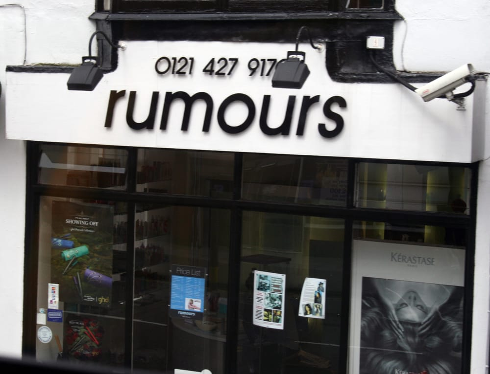 Rumours hair and beauty salon hair salons birmingham for Hair salon birmingham