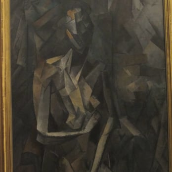 cubistic masterpiece by Picasso - The Seated Nude