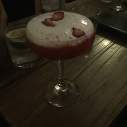 Champagne & strawberry martini was amazing (wee bit sweet but good!)