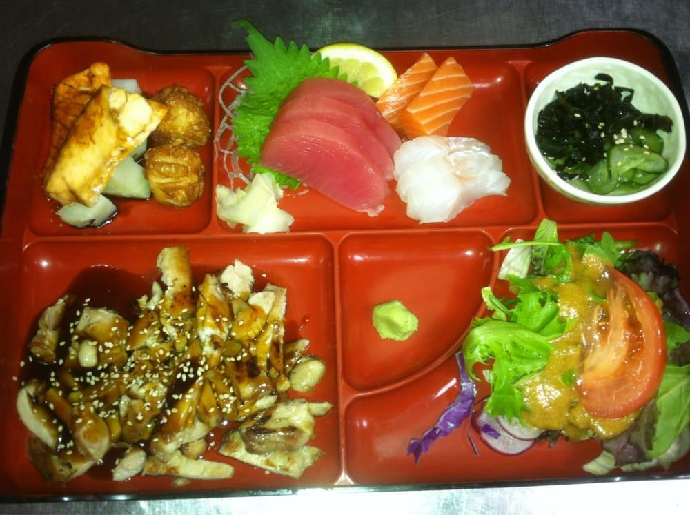 Lunch box combo chicken teriyaki with sashimi yelp - Shogun japanese cuisine ...