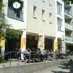 Yello, Terrasse vom Heimeranplatz aus…