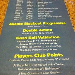 Aliante casino bingo cash ball