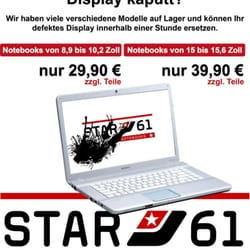 Star61 Display austausch