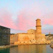 MuCEM - Marseille, France. Le Mucem relié au Fort St Jean