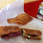 Goose The Market - Pastrami sandwich and a pig ear for my dog - Indianapolis, IN, Vereinigte Staaten