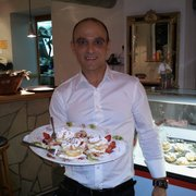 Mario e il Dessert di sua Creation.
