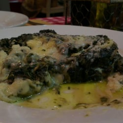 Spinach lasagna. Just spinach and cheese!