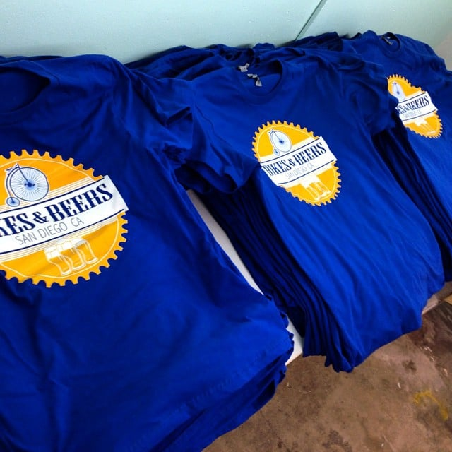 Bikes And Beers Sd Custom tees for Bikes and