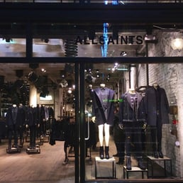 Outside the All Saints store.