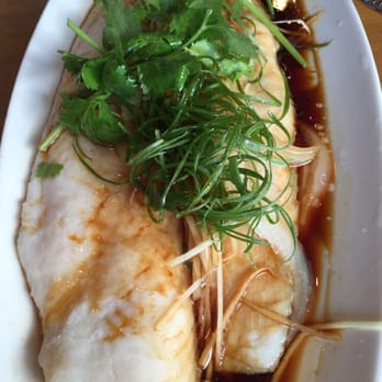 ... States. Steamed fish fillets with ginger and green onions. Mmmm