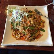 Panang2 Thai Restaurant - Oklahoma City, OK, États-Unis. Vegetable pad Thai with tofu