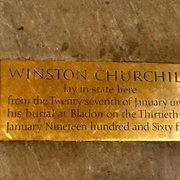 Winston Churchill was here, R.I.P.