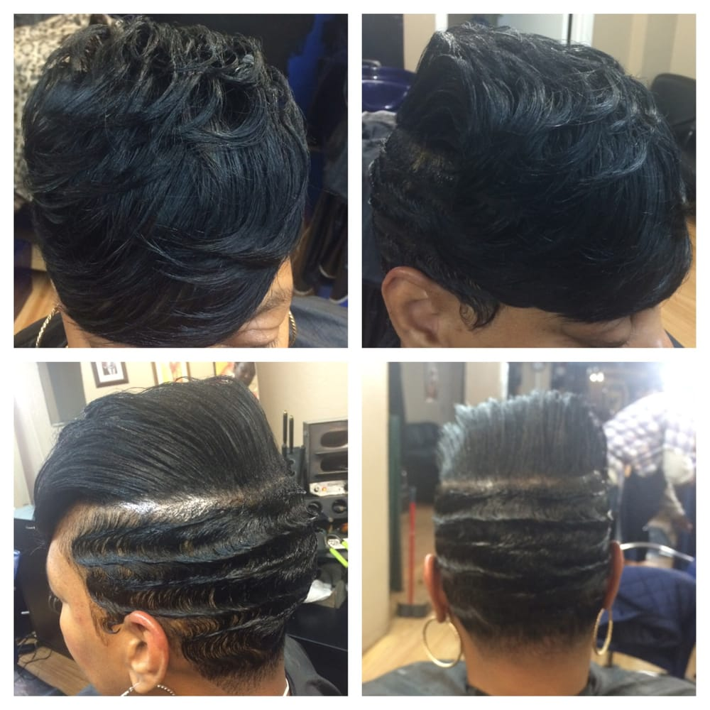 Best Weave Hairstyles For Swimming : Lovely short cut w finger waves by nita yelp