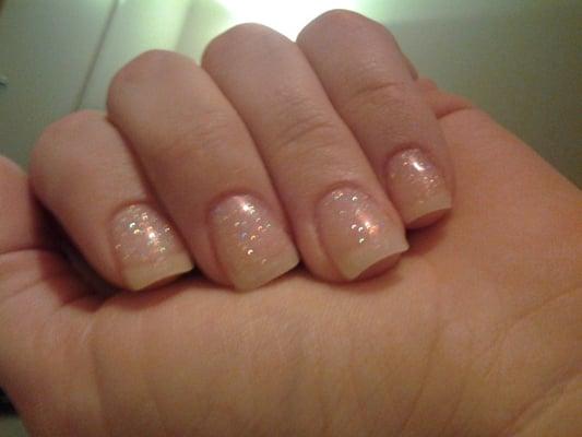 Clear Gel Acrylic Nails Clear Glitter Acrylic Gel