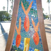 Oceanlife, Sun & Waves - Mosaic sculptures - Waves (detail) - San Diego, CA, Vereinigte Staaten