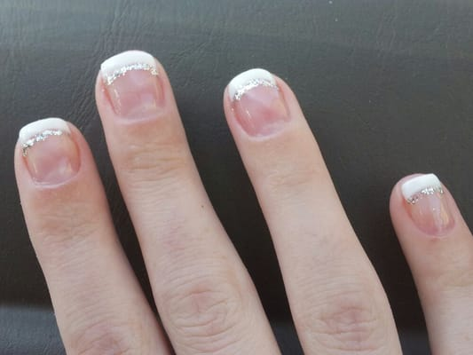 Generation Nail Salon - Gel French manicure with a little sparkle for