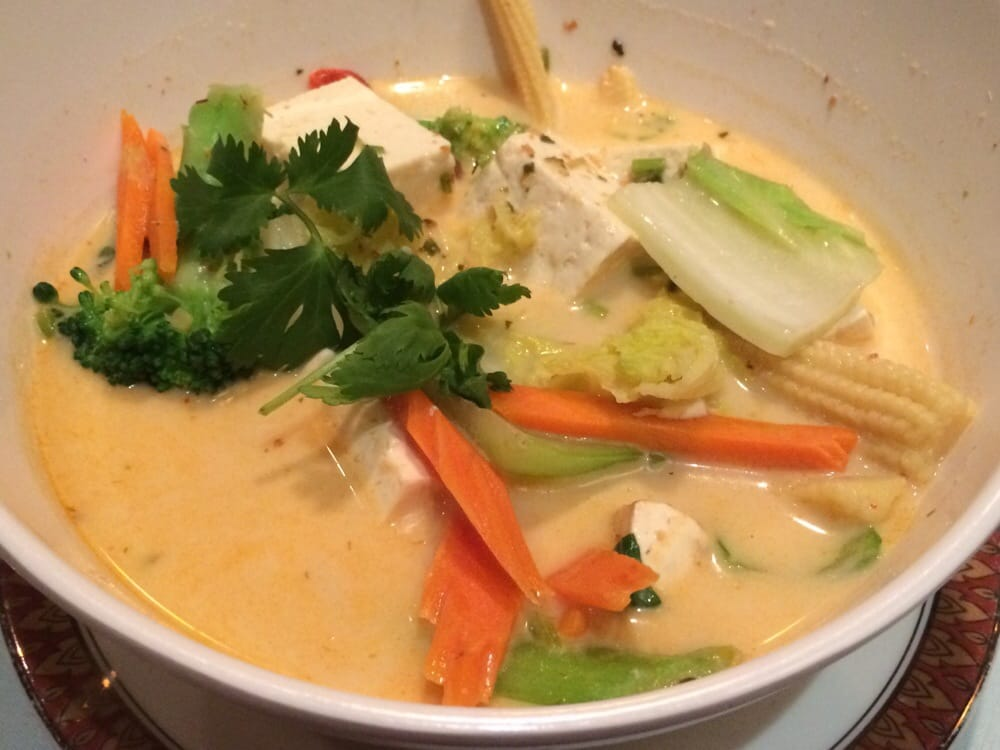 tom kha soup with vegetables and tofu yelp