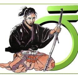 Logo mit Samurai