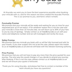 The Anycabs Promise