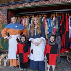 The dress-up area at Alnwick Castle.