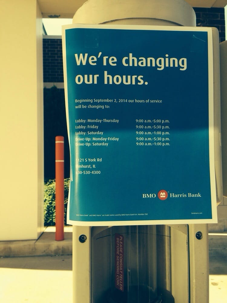 Bmo business model rules hours