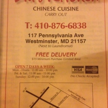 Chinese Food Restaurants In Westminster Md