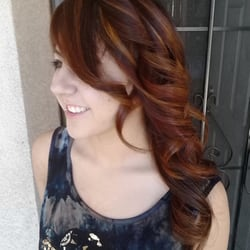 Hair Dresser on Fire - Gorgeous red, brown and golden blonde tones. Thanks for visiting from Colorado my beautiful niece. - Montclair, CA, Vereinigte Staaten