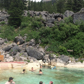 Granite Hot Springs Pool - Summer day at Granite Hot Springs. - Jackson, WY, Vereinigte Staaten