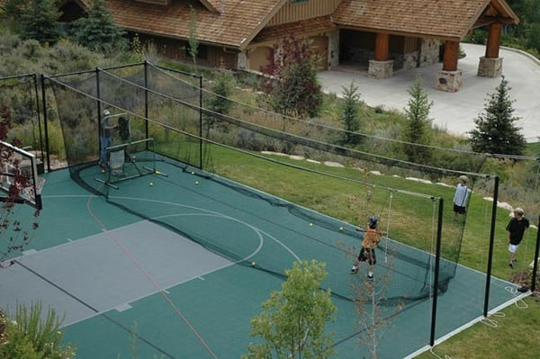 Backyard Sport Court With Batting Cage Yelp