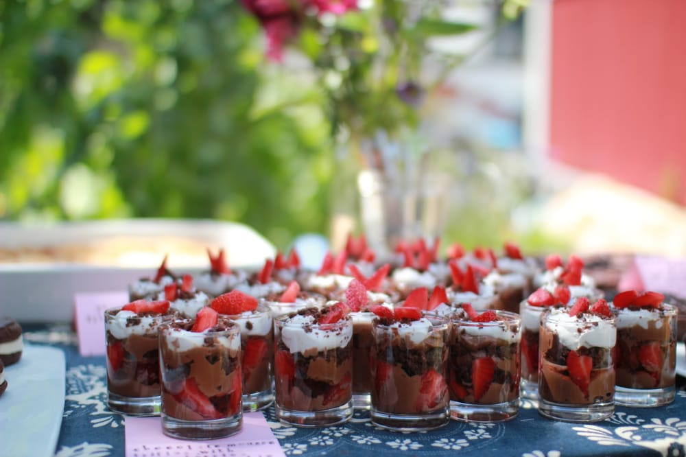 ... . chocolate mousse trifles with layers of rich chocolate mousse